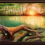 """НОВО!!! - """"Езерото на спомените"""" - маслени бои на платно 70x50 см. 740 лева"""