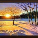 Картини на зимни пейзажи