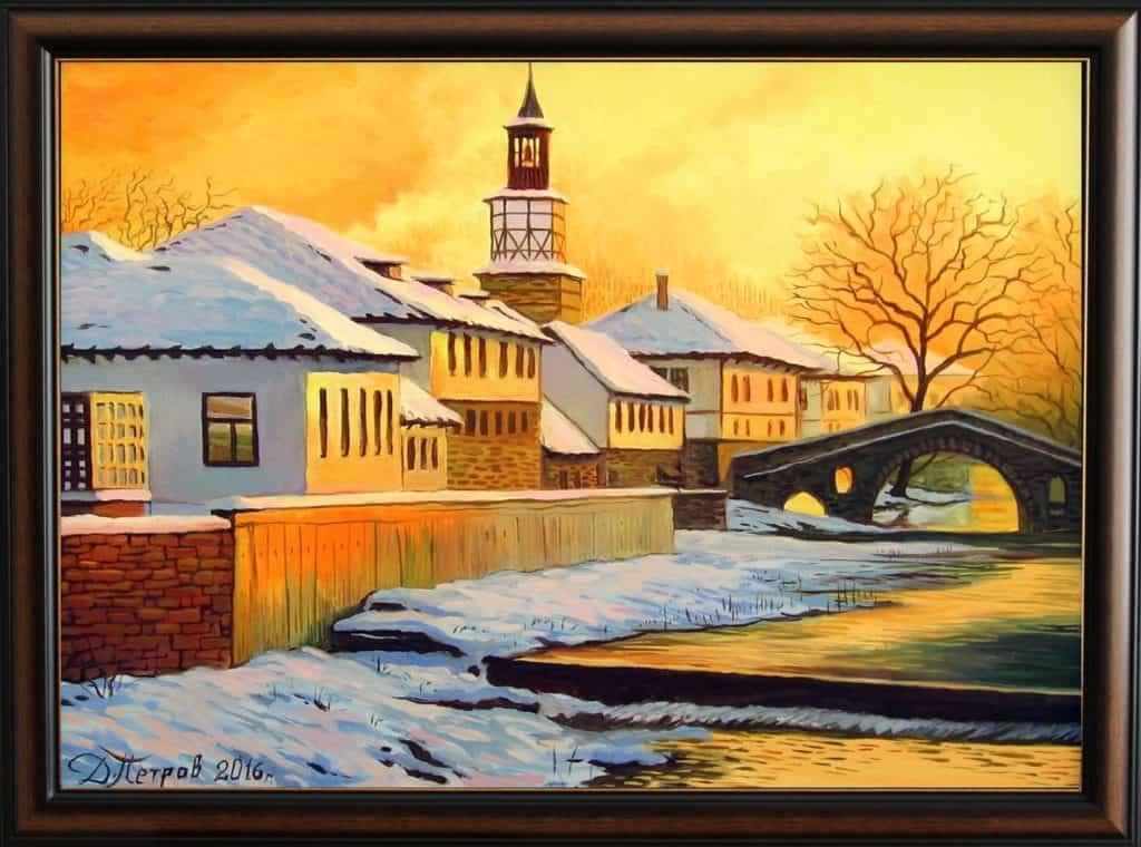 -ден-в-очакване-маслени-бои-на-платно-70x50-см. Картини с мостове