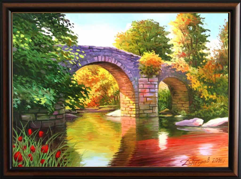 -съкровище-маслени-бои-на-платно-70x50-см.-300-лева Картини с мостове