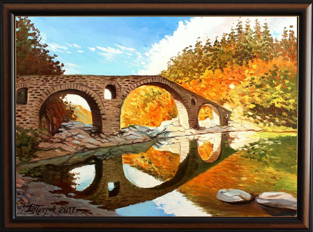 -между-тях-маслени-бои-на-платно-70x50-см.-440-лева Картини с мостове