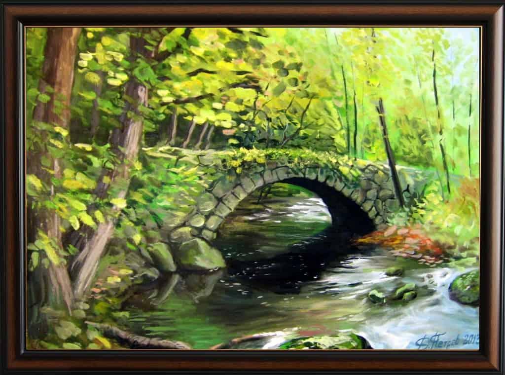 -на-гората-маслени-бои-на-платно-60х85-см.-архив-2013-г.-продадена Картини с мостове