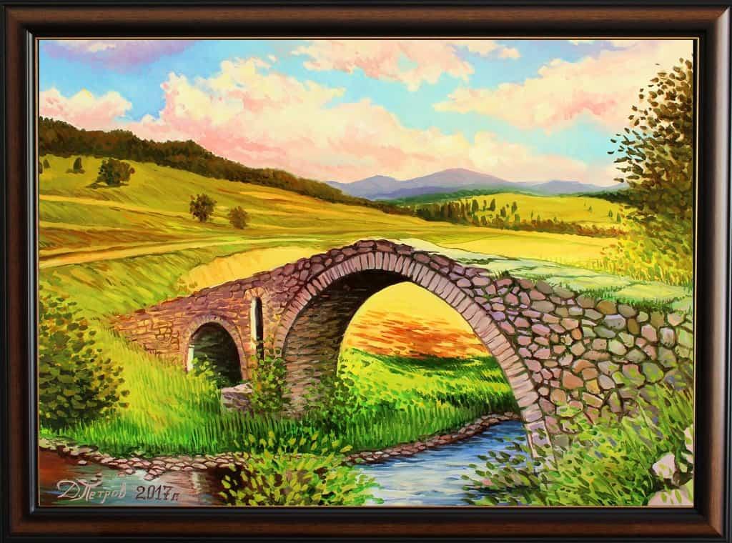 -тишина-маслени-бои-на-платно-70x50-см.-550-лева Картини с мостове