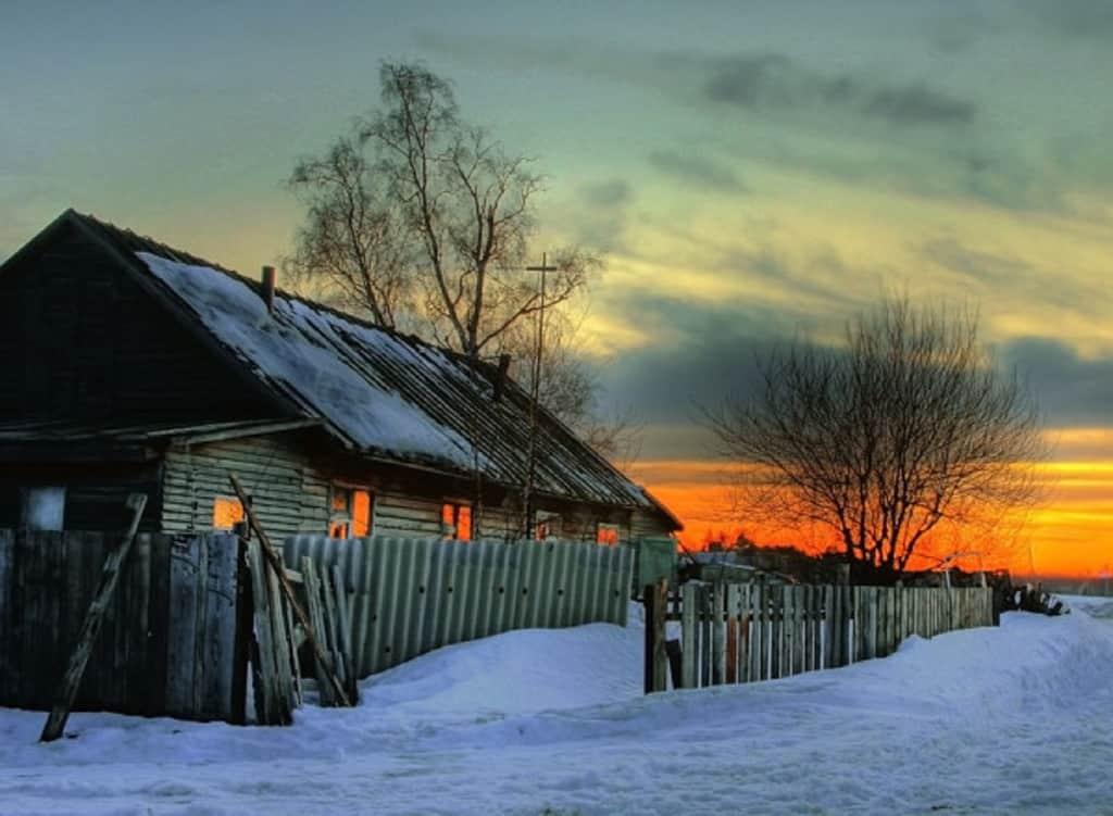 winter-sunset-on-house-1 Как започнах да рисувам отново?