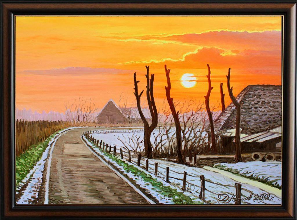 Денят-след-Коледа-оригинална-картина-с-маслени-бои-на-платно-50х70-см.-цена-480-лева-1 Композицията в картината и кои са 5-те основни правила?